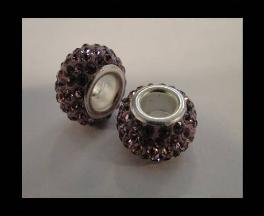 Buy Shamballa-Big Hole-Light Amethyst at wholesale prices