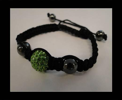 Shamballa Bracelet SB-Peridot -Style-4