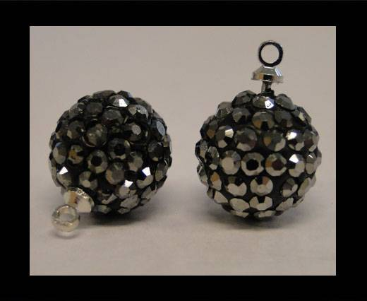 Buy Shamballa-Crystal-Hanger-8mm-Hematite at wholesale prices