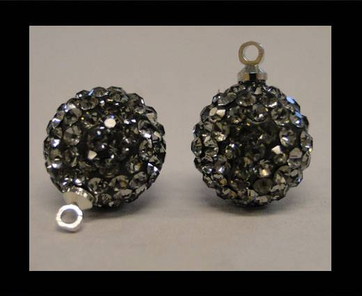 Buy Shamballa-Crystal-Hanger-12mm-Black Diamond at wholesale prices