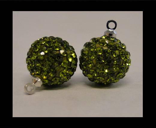 Buy Shamballa-Crystal-Hanger-12mm-Olive at wholesale prices