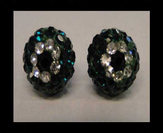 Shamballa-Flower-10mm-Emerald