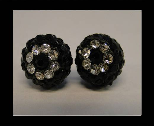 Shamballa-Flower-10mm-Jet
