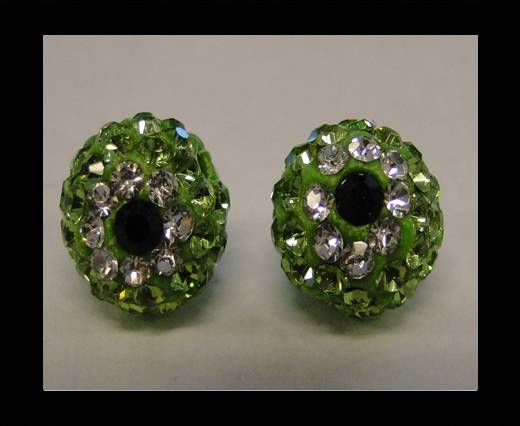 Shamballa-Flower-10mm- Peridot