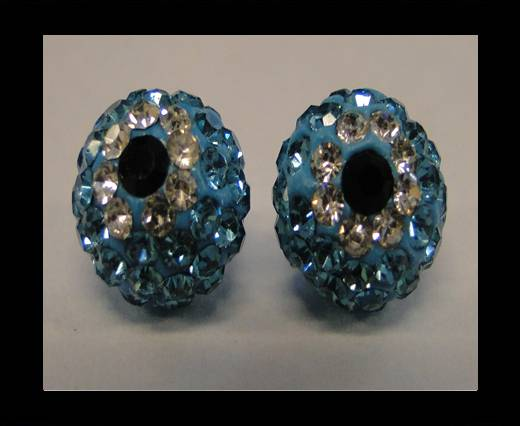 Buy Shamballa-Flower-10mm-Turquoise at wholesale prices