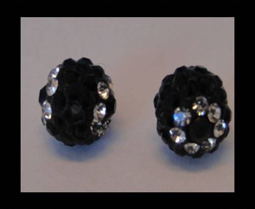 Shamballa-Flower-10mm-Black