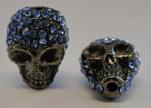 Shamballa Skull-Turquoise