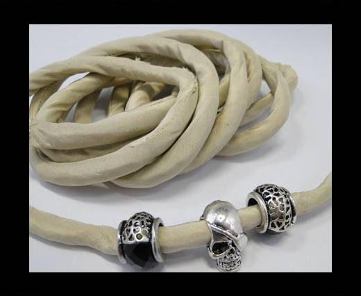 Real silk cords with inserts - 8 mm - Biscotti