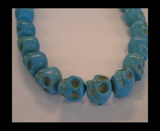 Buy Skull-15mm-Turquoise at wholesale prices