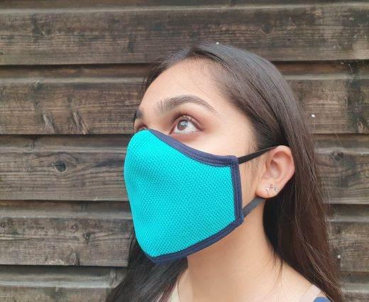 6 ply cotton washable masks - Sky Blue