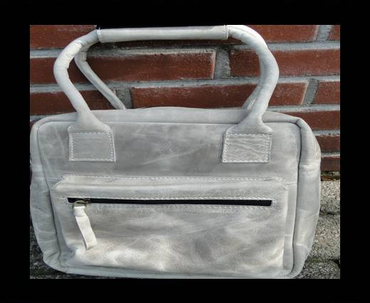 Small Traveller Bag with single pocket-20662-Light Grey