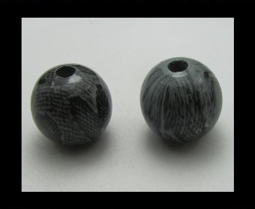 Buy Snake Wooden Beads NSSB-03-20mm at wholesale prices