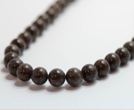Natural Stones-8mm-Snowflake Obsidian