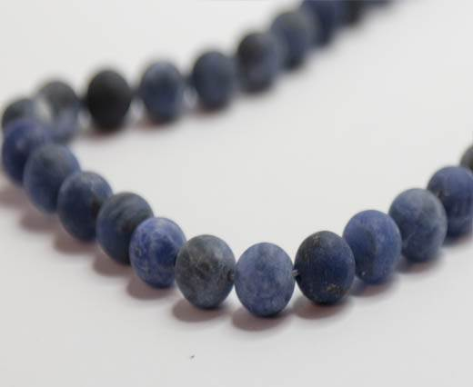 Natural Stones-8mm-Sodalite Frosted
