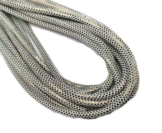 Round Stitched Nappa Leather Cord-4mm-special multidot bronze