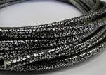 FAUX CORD REAL TOUCH ECO LEATHER -- 4mm Silver