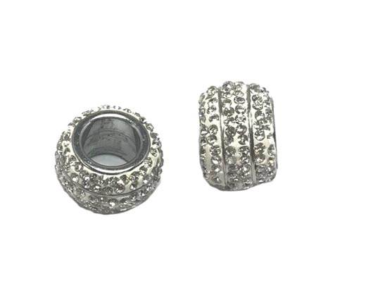 Stainless steel part for leather SSP-355-8mm-Crystal