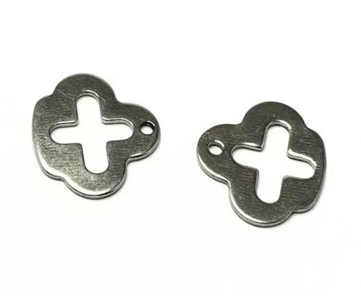 Stainless steel charm SSP-250-16.2*18mm-Steel