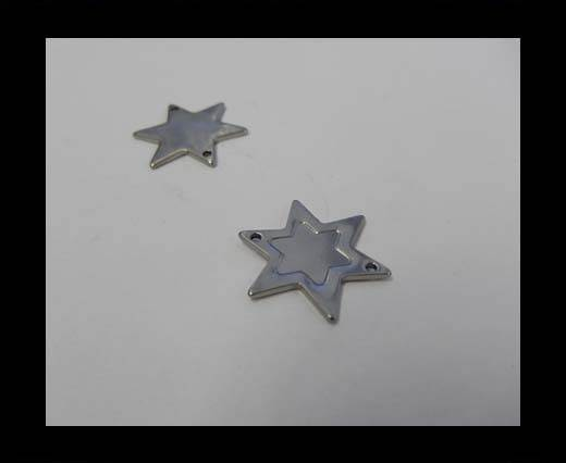 Stainless steel charm SSP-272-21.4*18.7mm-Steel