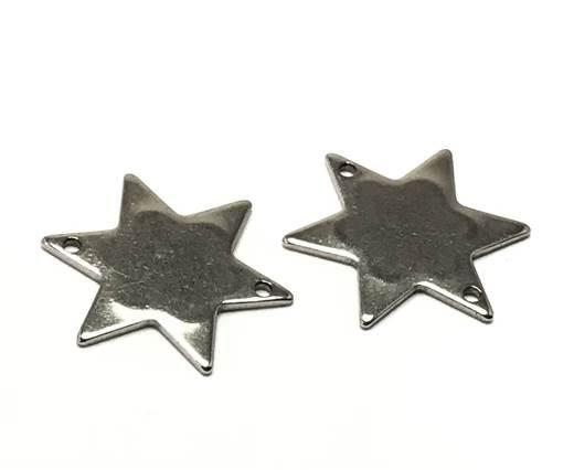 Stainless steel charm SSP-272-21.4*18.7mm-Steel