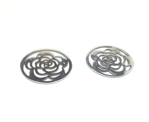Stainless steel earing SSP-326-20*20*1mm