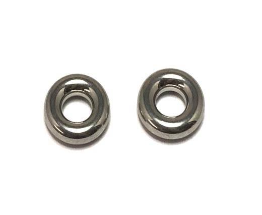 Stainless steel part for round leather SSP-349-steel-12*5,5mm