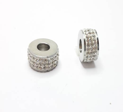 Stainless steel part for leather SSP-359-6mm-Crystal