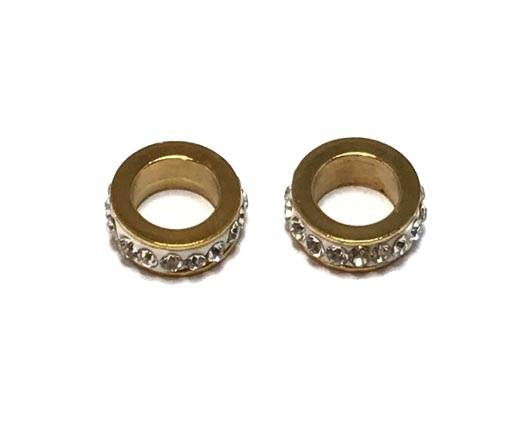 Stainless steel part for leather SSP-361-7mm-gold
