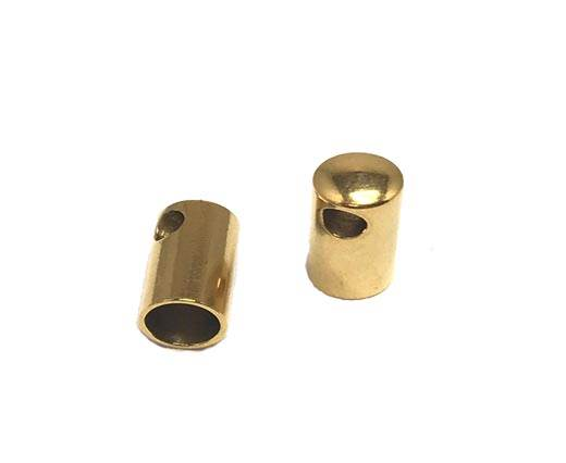 Stainless steel part for round leather ssp-39-4mm-gold