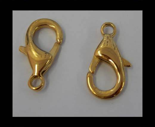 Stainless Steel Lobster Claw Clasp - SSP-43-24mm-Gold