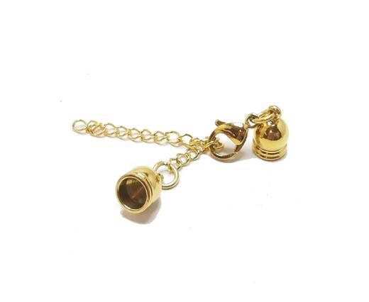Stainless steel end cap SSP-453-10mm-Gold