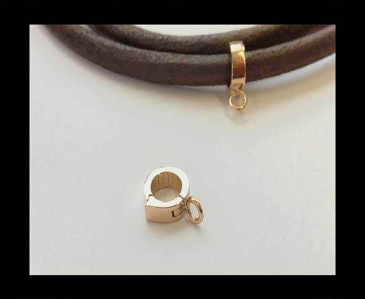 Stainless steel part for round leather SSP-53-4mm-Rose Gold