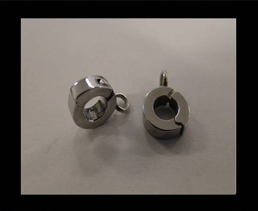 Stainless steel part for round leather SSP-53-4mm