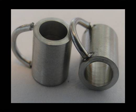 Stainless steel part for leather SSP-54 - 4mm MATT