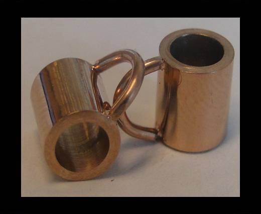 Stainless steel part for round leather SSP-54 - 4mm ROSE GOLD