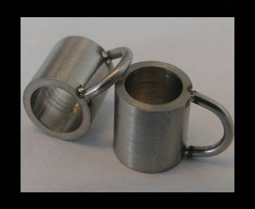 Stainless steel part for leather SSP-54 - 5mm MATT