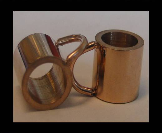 Stainless steel part for leather SSP-54 - 5mm ROSE GOLD