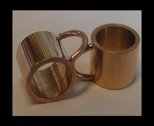 Stainless steel part for leather SSP-54 - 6mm ROSE GOLD