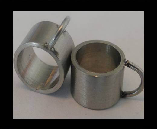 Stainless steel part for leather SSP-54 - 8mm MATT