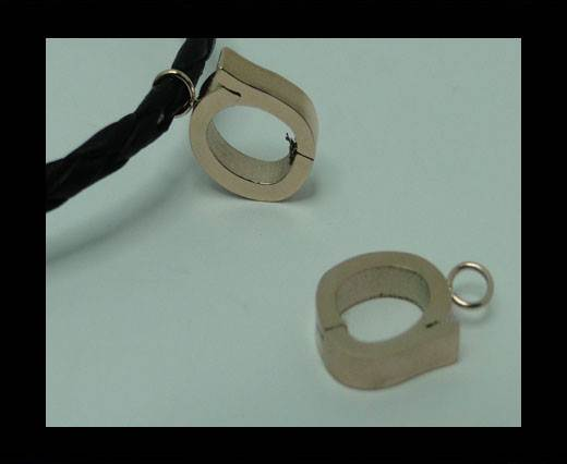 Stainless steel part for leather SSP-55-6MM-ROSE GOLD