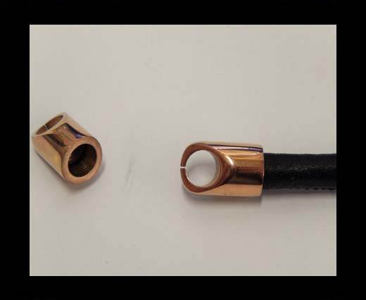 Stainless steel end cap SSP-56-9mm-Rose Gold
