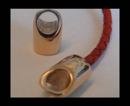 Stainless steel part for leather SSP-56 - 4mm ROSE GOLD