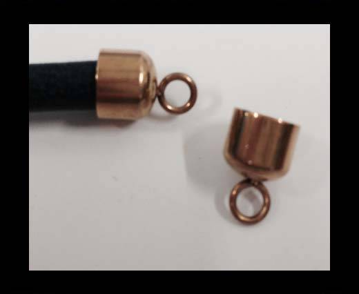 Stainless steel part for leather SSP-585-6MM-Rose Gold