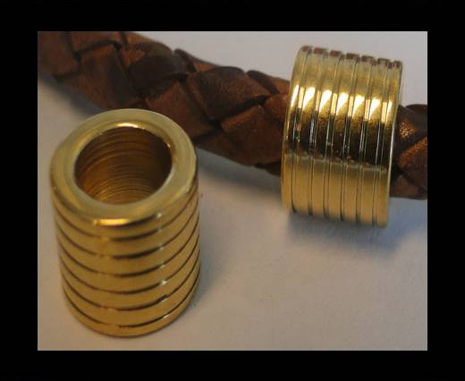 Stainless steel part for leather SSP-58 - 6,2mm GOLD