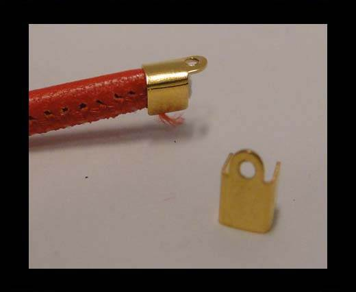 Stainless steel part for leather SSP-603 gold