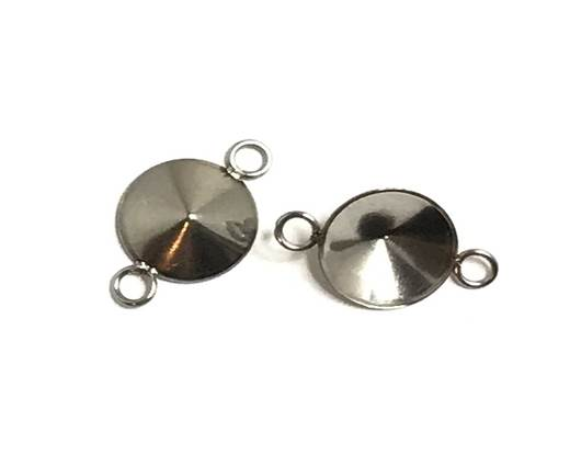 Stainless steel charm SSP-662-10mm-Steel