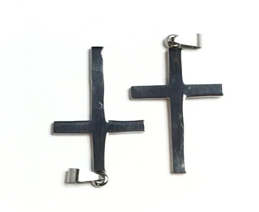 Stainless steel charm SSP-714-4*2.5cm*2.5mm-Steel