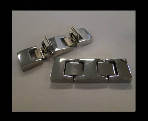 Stainless Steel Snap Lock Clasp -MGST-54