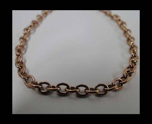 Buy Stainless Steel Chain Item-27-1*3,8*5mm Rose Gold at wholesale prices