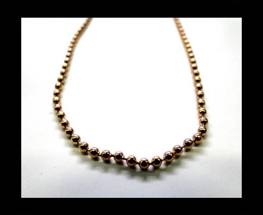 Buy Steel Chain Item 32 Rose Gold - 2mm at wholesale prices